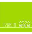 Springtime card on green background vector image
