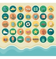 Summer Icons Set Flat design style vector image