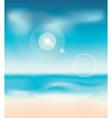 Sunny summer beach vector image