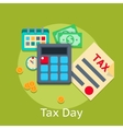 Tax payment flat business finance concept vector image vector image