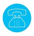Telephone line icon vector image