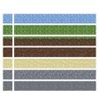 Texture for platformers pixel art - mud vector image