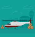 transport and logistics vector image vector image