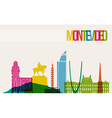 Travel Montevideo destination landmarks skyline vector image vector image