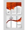 Tri-fold christmas brochure vector image