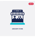 two color grocery store icon from commerce vector image