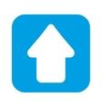 upload arrow symbol isolated icon vector image
