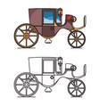 vintage automobile or old car xix century cab vector image vector image