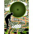 vintage urban grunge golf vector image vector image