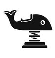 whale amusement ride icon simple style vector image vector image