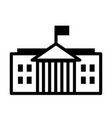 white house solid vector image