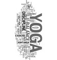 yoga as a life philosophy text word cloud concept vector image vector image