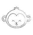 cute sketch draw face cartoon vector image