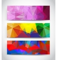 Abstract multicolor geometric triangles banners vector image