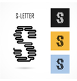 Creative S - letter icon abstract logo design vector image