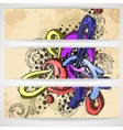 Abstract Colored Graffiti Pattern vector image