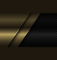 abstract gold plate overlap on black circle mesh vector image vector image