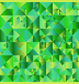 abstract green polygonal gradient triangle vector image vector image
