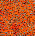 abstract orange retro seamless pattern vector image