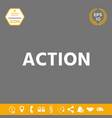 action button symbol graphic elements for your vector image vector image