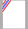 american flag ribbon decorative frame vector image vector image