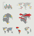 atlas map infographics vector image vector image