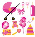 baby set for girl vector image