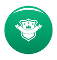 badge quality icon green vector image vector image