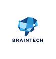 brain technology connection geometric polygonal vector image vector image
