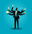 business concept for multitasking vector image vector image