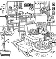 Cartoon of apartment vector image vector image
