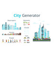 cartoon style city generator vector image vector image