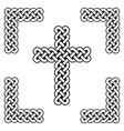 celtic style endless curved knot cross symbols vector image vector image
