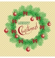 Christmas and New Year vintage greeting cards with vector image
