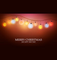 christmas garland with light lamp vector image vector image