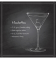 cocktail manhattan on black board vector image vector image