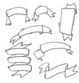 collection handdrawn doodle ribbon vector image vector image
