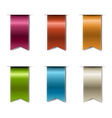 Color Realistic Ribbons vector image vector image