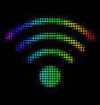 colored pixel wi-fi source icon vector image