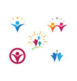 community network and social icon vector image