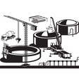 construction of oil base vector image vector image