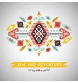 decorative element on native style vector image