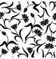 decorative tulip pattern seamless vector image vector image