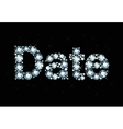Diamond Word Date vector image vector image