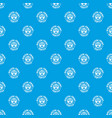 digital print textile pattern seamless blue vector image