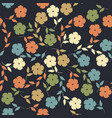 endless pattern with flowers and leaves vector image vector image