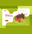 farm buildings website design vector image vector image