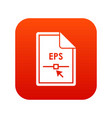file eps icon digital red vector image vector image