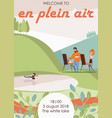 flyer or poster template for en plein air vector image