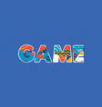 game concept word art vector image